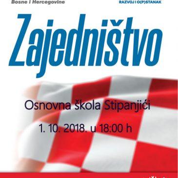 NAJAVA: Predizborni skup HDZ-a BiH danas u Stipanjićima u 18 sati
