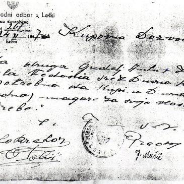 SAČUVANO OD ZABORAVA: Kupovna dozvola iz 1947. godine za nabavu magareta