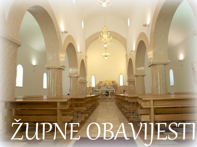ŽUPNE OBAVIJESTI: Krštenje Gospodinovo