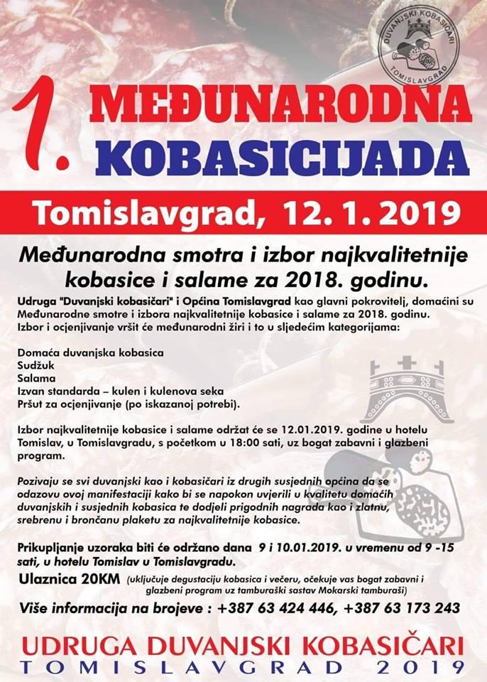 NAJAVA: 1. međunarodna kobasicijada u Tomislavgradu 12. siječnja