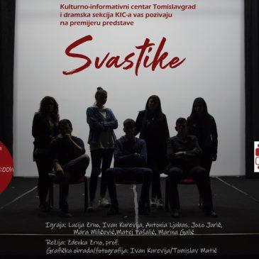 """NAJAVE: Premijera predstave """"Svastike"""" u KIC-u 23. ožujka"""