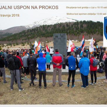 NAJAVA: Memorijalni uspon na Prokos danas