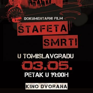 """NAJAVA: Promocija filma """"Štafeta smrti"""" u Tomislavgradu 3. svibnja"""