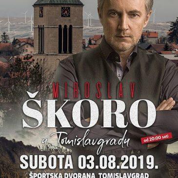 NAJAVA: Koncert Miroslava Škore u Tomislavgradu 3. kolovoza