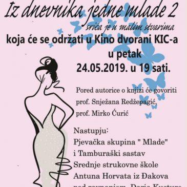 """NAJAVA: Danas predstavljanje knjige Ivane Ćurić """"Iz dnevnika jedne mlade 2 – srića je u malim stvarima"""""""