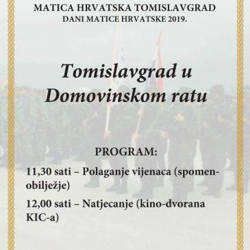 """NAJAVA: Natjecanje """"Tomislavgrad u Domovinskom ratu"""" 9. svibnja u kino dvorani"""