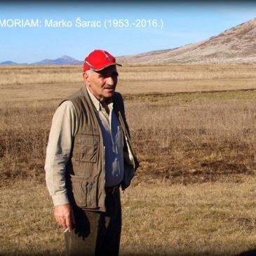 IN MEMORIAM: Marko Šarac (1953.-2016.)