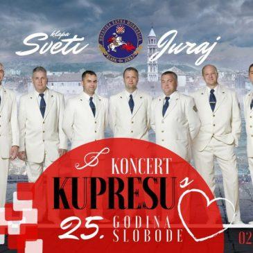 """25. OBLJETNICA OSLOBOĐENJA:Klapa HRM """"Sveti Juraj"""" i Orkestar HRM """"Kupresu s ljubavlju"""""""