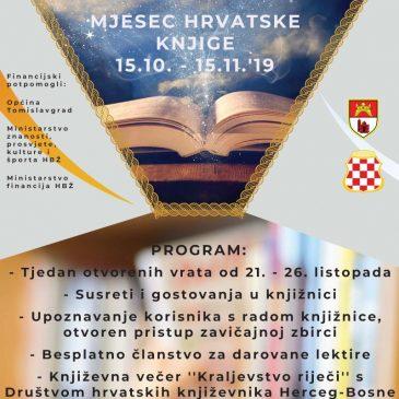 TOMISLAVGRAD: Mjesec hrvatske knjige 2019.
