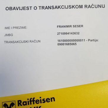 VAŽNA OBAVIJEST: Uplate za groblje u Raiffeisen banci