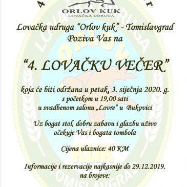 LU ORLOV KUK: Četvrta lovačka večer 3. siječnja 2020.