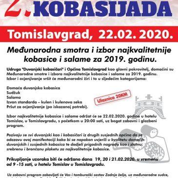 NAJAVA: 2. Međunarodna kobasijada u Tomislavgradu u subotu