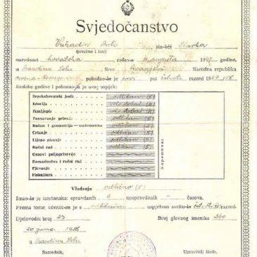 NAŠA ŠKOLA: Mak Srđanac – Marko Kovačević: Đačka prisjećanja (1947. -1951.) – II. dio