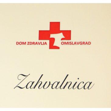 DOM ZDRAVLJA TOMISLAVGRAD: Zahvala za donaciju