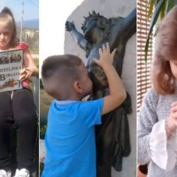 ZAJEDNIŠTVO U MOLITVI: Mala župa blizu Tomislavgrada objavila je video najmlađih župljana u molitvi koji nam je uljepšao večer
