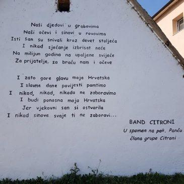 KONGORA: Oslikan mural posvećen pok. Anti Maliću – Panči