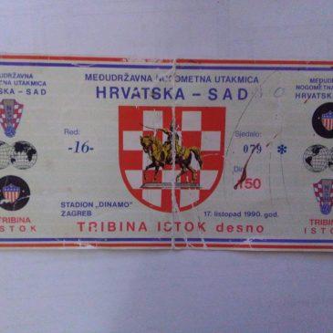 SAČUVANO OD ZABORAVA (1990.): Kongorska ulaznica s prve utakmice hrvatske nogometne reprezentacije