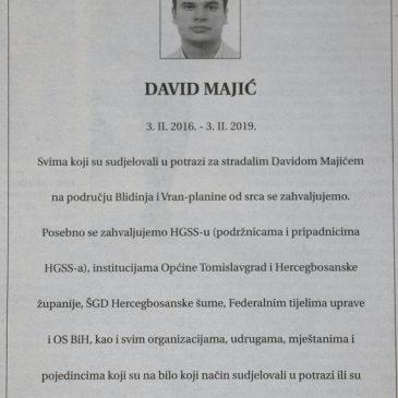 IN MEMORIAM: David Majić (3. 02. 2016. – 3. 02. 2019.)