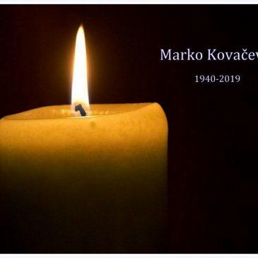 OBAVIJEST: Posljednji ispraćaj Marka Kovačevića 4. lipnja u Velikoj Gorici