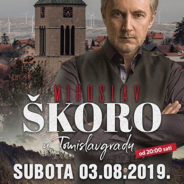 PONAVLJAMO: Koncert Miroslava Škore u Tomislavgradu 3. kolovoza