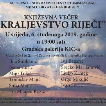 NAJAVA: Književna večer u KIC-u