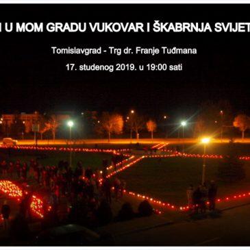 I U MOM GRADU VUKOVAR I ŠKABRNJA SVIJETLE:  Paljenje svijeća za stradale u 19 sati na Trgu dr. Franje Tuđmana