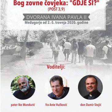 POZIV: Prva domovinska duhovna obnova bratovštine Marijanski Zavjet u Međugorju od 2. – 5. travnja 2020.