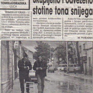IZ ARHIVA Slobodne Dalmacije, prosinac 1999. godine