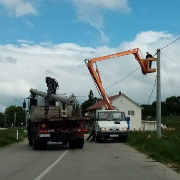 ELEKTRIČARI RADE U SRĐANIMA, PRIPAZITE NA CESTI!
