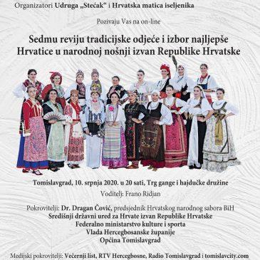 NAJAVA:  Sedma revija tradicijske odjeće i izbor najljepše Hrvatice u narodnoj nošnji