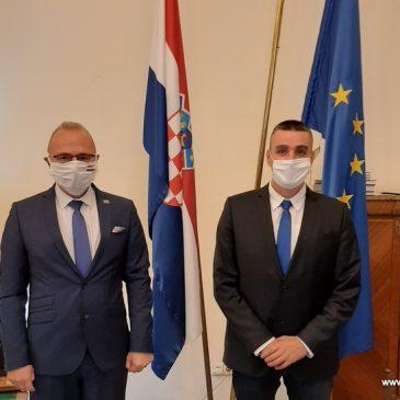 MINISTAR GRLIĆ RADMAN PRIMIO PREDSJEDNIKA OPĆINSKOG VIJEĆA TOMISLAVGRAD