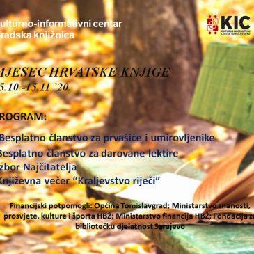 KIC TOMISLAVGRAD: Mjesec hrvatske knjige 2020.