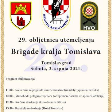 SUTRA: Proslava 29. obljetnice Brigade kralja Tomislava