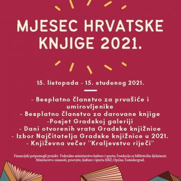 KIC TOMISLAVGRAD: Mjesec hrvatske knjige 2021.